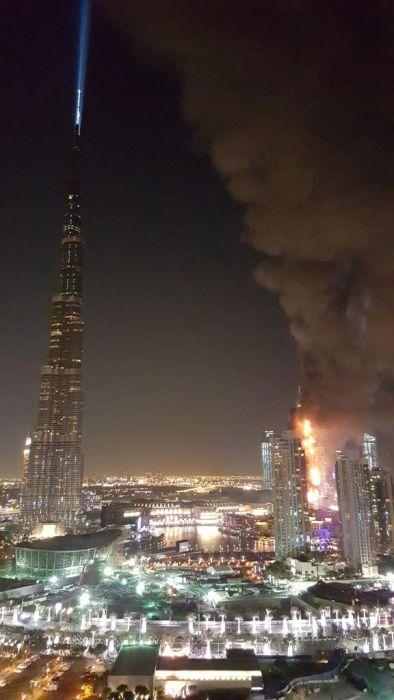 Dubai Hotel on Fire