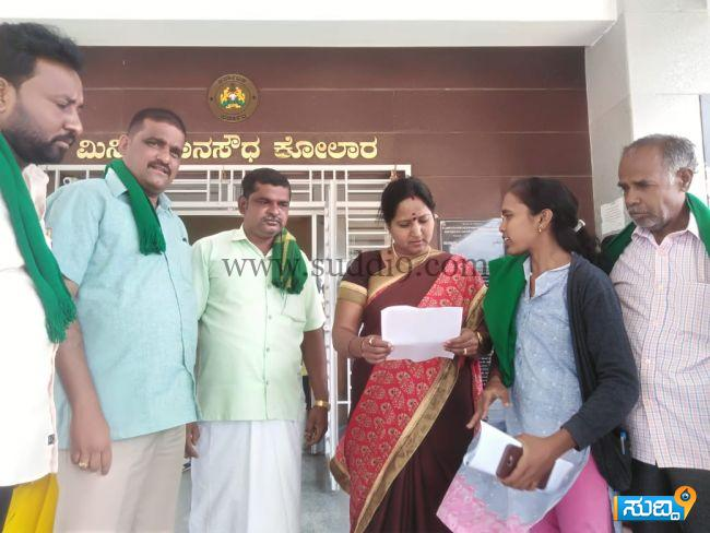 Raitha sangha dalita bethale meravanige manvi news 12-06-2019 (2)